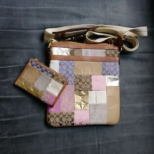 Coach Patchwork Crossbody and Matching Coin Purse